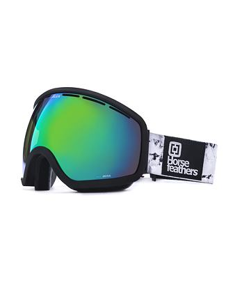HF x Melon Optics snowboardové brýle Chief - black birch/green chrome